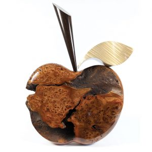 Wooden apple scuplture