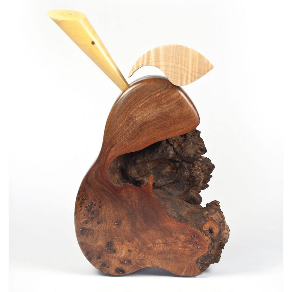 Wooden pear sculture